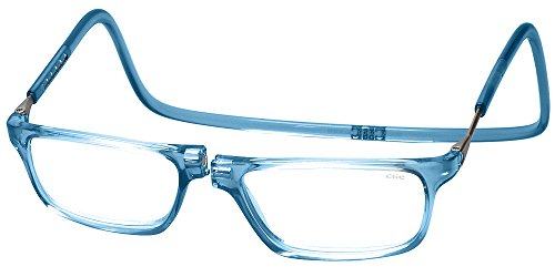 Clic Magnetic Executive Reading Glasses in Blue Jeans +1.50 -