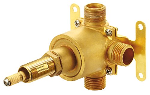 Danze D130500BT Single Handle 3-Port/2-Outlet Diverter Valve, 1/2-Inch Combination IPS/Copper Sweat Ports, Rough Brass