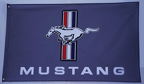grey mustang flag mustang banner ford mustang flag ford mustang banner mustang flags ford mustang car banner--polyster flags,Brass Grommets ,Anti-UV,Digital Printing--car flags 3 X 5 (Ford Mustang Warranty)
