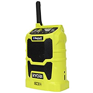 Ryobi P742 One+ 18V Lithium Ion Cordless Compact AM / FM Radio w/ Wireless Bluetooth Technology and Phone Charging (18V Battery Not Included / Radio Only)