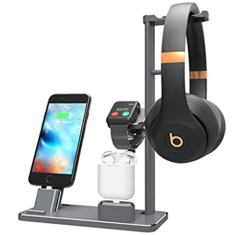 XUNMEJ Apple Watch Stand Station Aluminum iWatch Charging Stand - Sale: $36.54 USD (15% off)