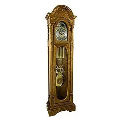 Hermle 010832041161 Randolph Floor Clock - Dark Oak