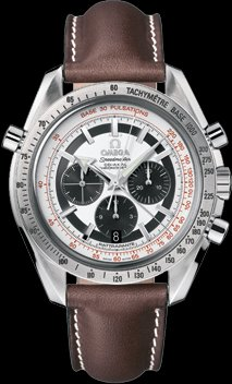 OMEGA Speedmaster Broad Arrow Silver Dial Co-Axial automatic winding back cover skeleton 3882.31.37 Men's (Omega Skeleton Watch)
