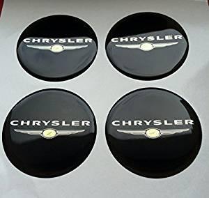 Chrysler amp; # x2605; 4 Pieza & # x2605; 60 mm Pegatinas Emblema