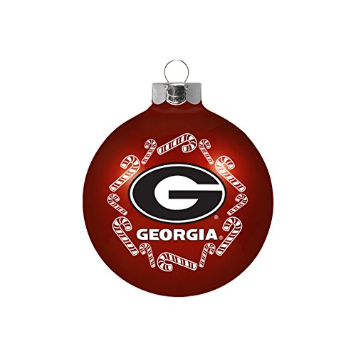 - Topperscot University of Georgia Bulldogs NCAA Glass Christmas Ornament Holiday Decoration