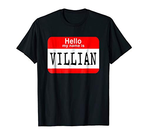 - Hello my name is villian T-shirt Halloween Costume Gift Tee