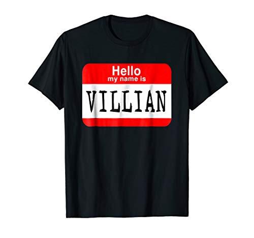 (Hello my name is villian T-shirt Halloween Costume Gift)