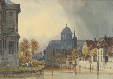 Oil Painting 'A View Of The Church Of Our Lady Of Hanswijk, Mechelen (Malines), Belgium, 1831 By Thomas Shotter Boys' 24 x 34 inch / 61 x 87 cm , (Lime Wedge Adult Costumes)