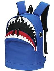 3D Shark Canvas Backpack Kids Book Bag School Backpack for Children Toddler Girls Boys