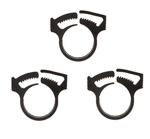 ATIE PoolSupplyTown Black Sweep Hose Attachment Clamp Replacement Fits for Zodiac Polaris Pool Cleaner 280 360 Black Max, 3900, TR35P, TR36P Black Sweep Hose Attachment Clamp B16 B-16 (3 Pack)