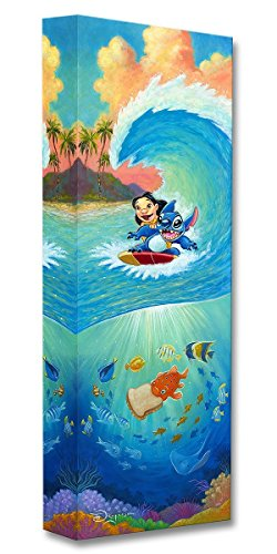 Disney Fine Art Hawaiian Roller Coaster 24'' x 8'' Treasures on Canvas Lilo and Stitch Gallery Wrapped Canvas by Tim Rogerson by Disney Fine Art