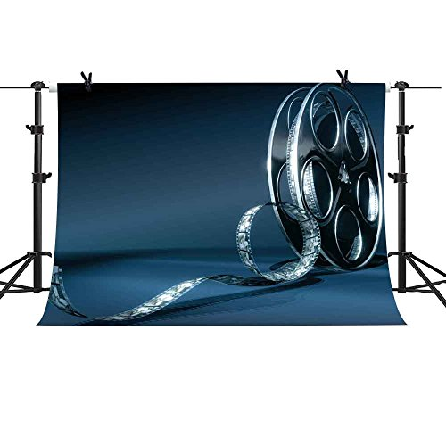 MME Photography Backdrop 10X7ft Vintage Blue Background Old Movie Film for YouTube Photography Photo Studio Props PME528 from MTMETY