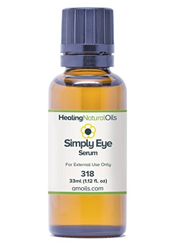Simply Eye Serum - Enhance The Skin Around Your Eyes Naturally - No Additives All Natural - Pure Oils To Moisturize & Rejuvenate. Perfect for Dark Circles & Under Eye Bags - 90 Day Guarantee (33ml)
