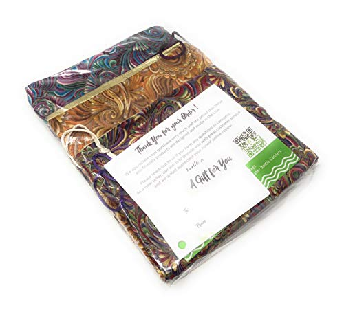 """Paisley Fabric Reusable Drawstring Gift Bag 