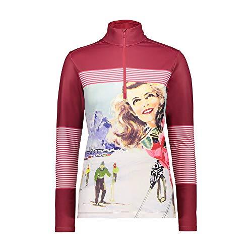 CMP Fleece-Shirt für Damen, Softech, Magenta-B.Co-Carmin, 42, Magenta-B.Co-Carminio