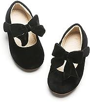 Kiderence Girls Flat Mary Jane Shoes Slip-on School Party Dress Ballerina Shoe (Toddler/Little Kids)