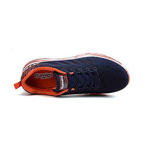 Ginnastica Jogging Fitness Scarpe Athletic Da shock Uomo Corsa Blu Donna Junkai Ka18122007 Unisex Multi Sport Anti Per Arancio 0zqp8wd