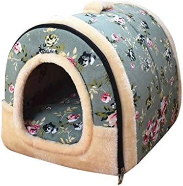ManxiVoo Pet Dog Cat Bed House Warm Mat Bedding Igloo Basket Kennel Room Bed