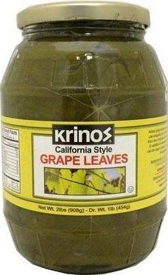 Krinos Imported Grape Leaves, 2 lbs (1 JAR) by Krinos