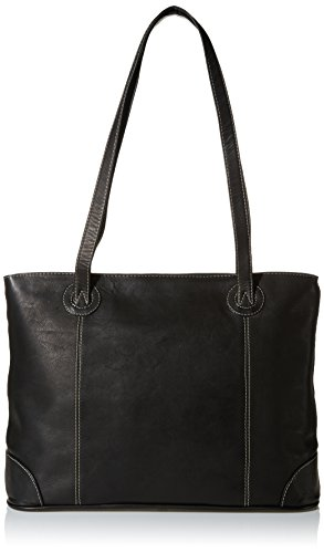 Piel Leather Ladies Computer Tote, Black, One Size