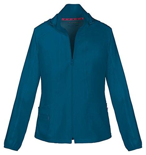 Fine Trendy Edge (HeartSoul Women's Warm-Up Detachable Hooded Jacket_Caribbean Blue_XX-Large,20310)