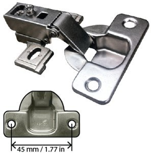 Sensational Concealed Cabinet Hinge 1 2 Inch Overlay Self Closing Screw On Cup 125 Opening Download Free Architecture Designs Itiscsunscenecom