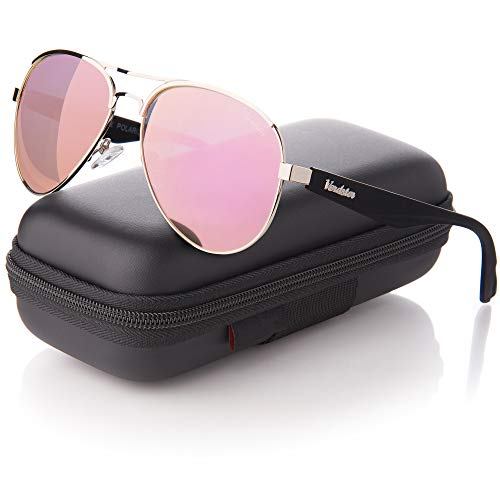 62279836bfda Verdster Protección Lentes – Polarizadas Para Gafas Uv400 Espejo Sol  Mujeres Aviador oro De Rosa Svxw8qTI