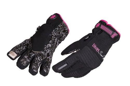 Divas SnowGear Versa Style Women's Gloves (Black, Medium) (Stretch Dive Glove)
