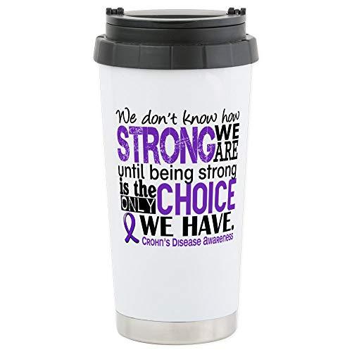 CafePress Crohn's Howstrongweare Stainless Steel Travel Mug, Insulated 16 oz. Coffee Tumbler