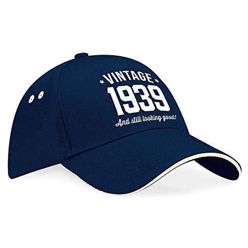 80th birthday, Cap, Hat, Baseball Cap 80th birthday gifts idea present keepsake Novelty Funny Gift 80th birthday gifts for women 80th birthday gifts for men 1939 birthday gifts -