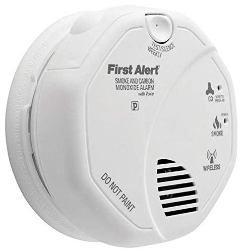 First Alert FAT1039839 Wireless Interconnected Smoke & Carbon Monoxide Alarm with Voice & Location