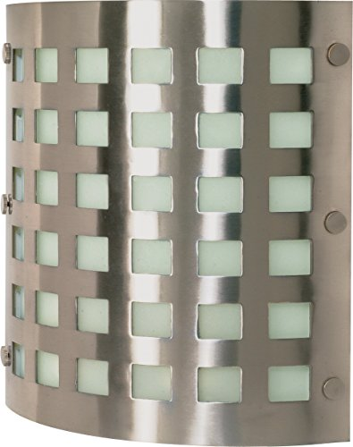 Nuvo 60/940 Two Light Wall Fixture, Brushed Nickel