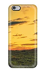 For Iphone 6 Plus Premium Tpu Case Cover As The Sun Sets Sunset Gold Field Grass Hills Green Blue Clouds Magnificent Landscape Evening Nature Other Protective Case