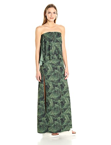 Baja-East-Womens-Palm-Print-Crepe-De-Chine-Dress