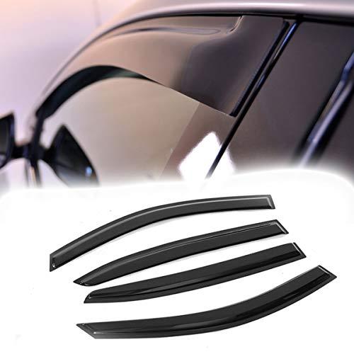 VIOJI 4pcs for 2008-2012 Honda Accord Sedan Smoke Deflector Sun Rain Guard Vent Shade Window - Accord Sedan Honda 2009