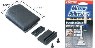 Replacement Plastic Self-Latching Latch for Tri-Vent Sliders With Latch Base and Adhesive by CRL