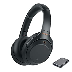 Sony WH-1000XM3 Wireless Noise Canceling Over Ear Headphones with voice assistant, Black (WH-1000XM3/B) with 20,000mAh High Capacity Portable Power Bank
