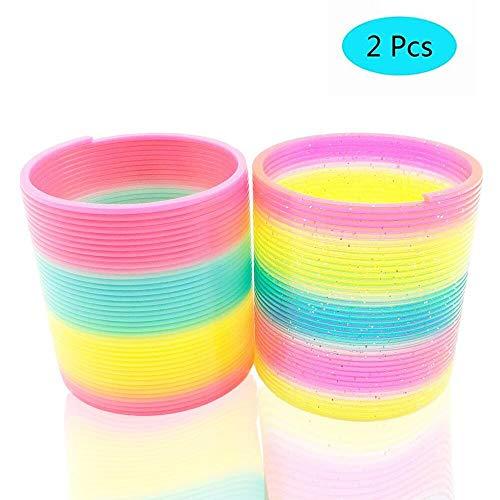 Slinky Toy,Magic Spring Rainbow Slinky-2 Pcs FTY002 (2Pcs)