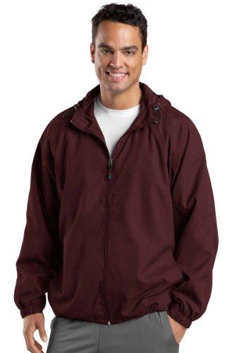 Tek hombre chaqueta con Maroon Sport raglán capucha OUaqIWZOSd