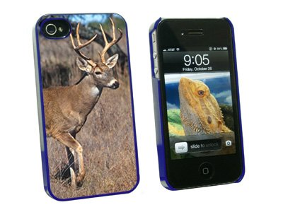 Graphics and More Deer - Hunting - Snap On Hard Protective Case for Apple iPhone 4 4S - Blue - Carrying Case - Non-Retail Packaging - Blue
