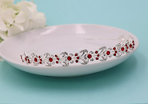 Mia Custom Color Pearl and Silver Rhinestone Bridal Headband