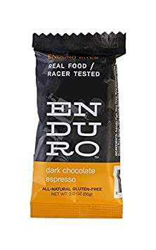 Enduro Bites Dark Chocolate Espresso Real Food Energy Bar 10-Pack Dairy Free, Gluten Free, Non GMO