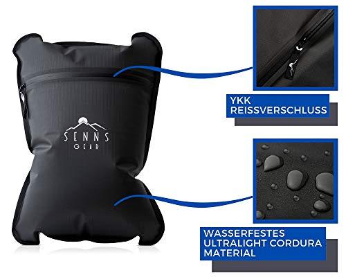 41kf4N448QL SENNS GEAR® Wasserdichter Packsack 15 Liter - Ultralight, Wasserfeste Tasche, YKK Zip, Cordura Material inkl…