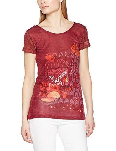 SideCar Ayuda-v17, Camiseta para Mujer Multicolor (Estampado)