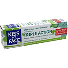 Kiss My Face Toothpaste Triple Action Cool Mint Gel 4.5 Ounce (133ml) (2 Pack)