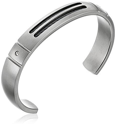 Edward Mirell Cable Sport Men's Titanium Cuff Bracelet