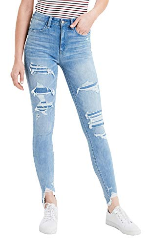 (American Eagle Womens 360 Ne(X) t Level Super High-Waisted Jegging Jeans, ICY Repair (2S))