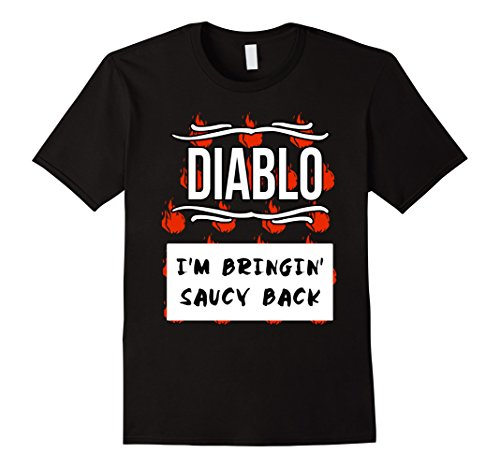 Mens GROUP HALLOWEEN COSTUME T-shirt - DIABLO HOT SAUCE Shirt Small (Diablo Costume)