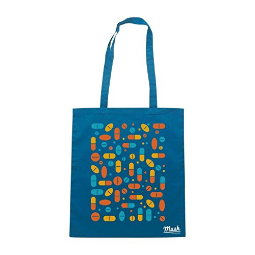 Borsa Pillole Quadrato Mdma - Blu Royal - Mush by Mush Dress Your Style