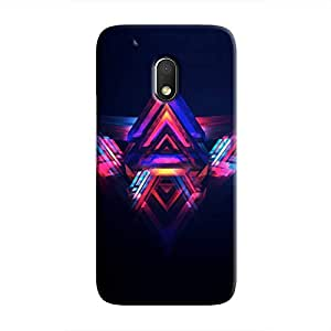 Cover It Up - Abstract Red&Blue Moto G4 Play Hard Case